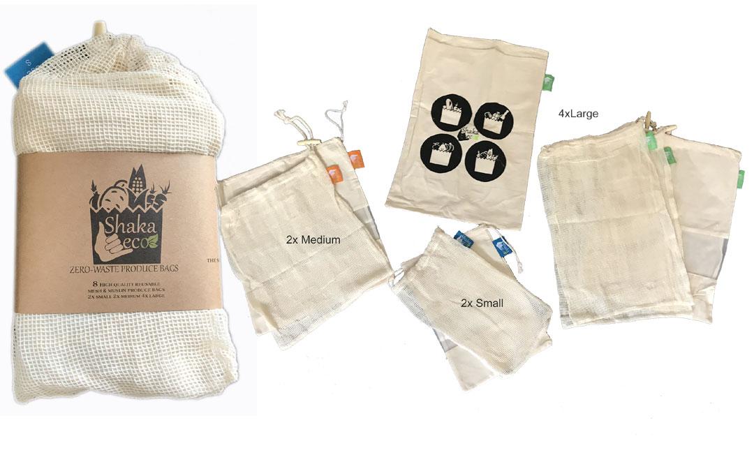 Shaka Eco Zero Waste Produce Bags 8pk