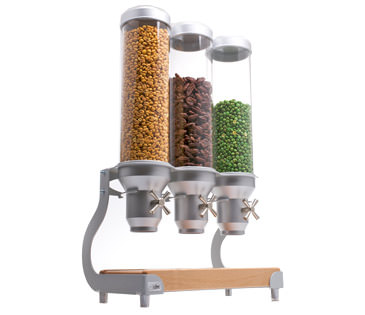 Idm Dispenser | ADC30 | Wood Base | 3 Containers| Cereal | Candy | Natural Food |