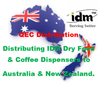 QEC Distribution, distributing IDM Dry Food & Coffee Dispensers to Australia & New Zealand