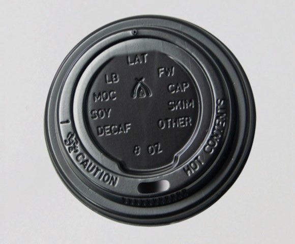 Coffee cups | Lid | Single | Perfect Touch | White | Black