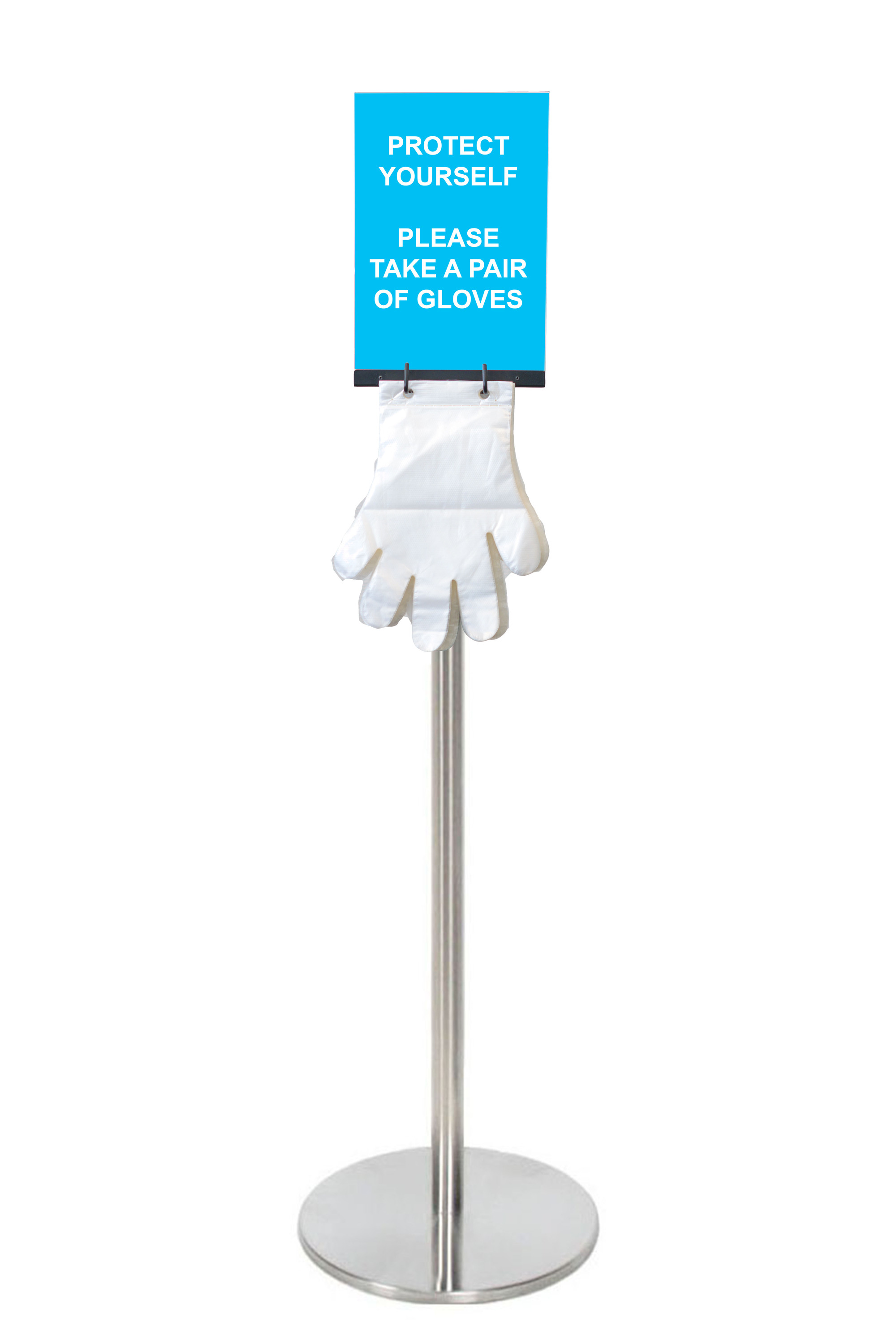 QEC - Silver Freestanding Glove Stand