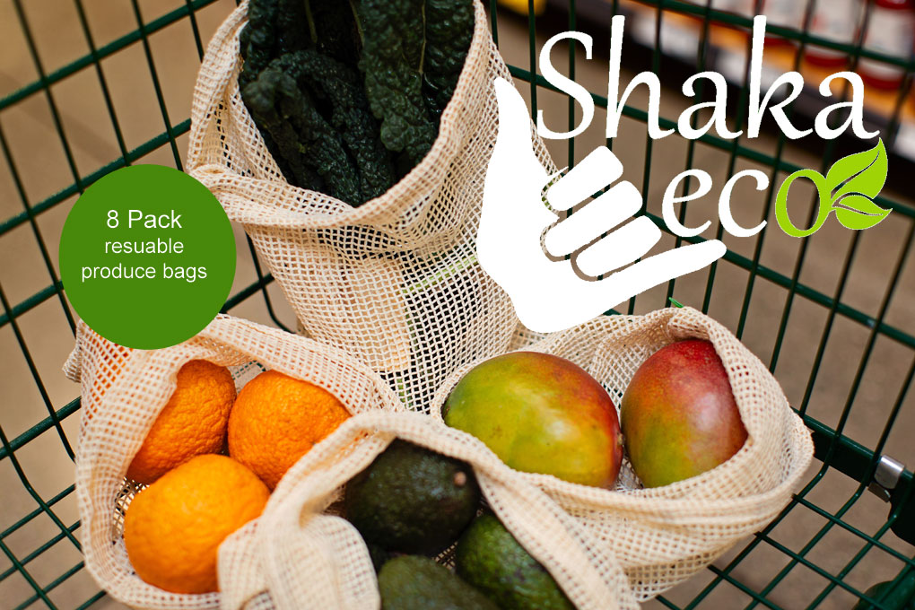 QEC Shaka Eco Produce Bags 8pk
