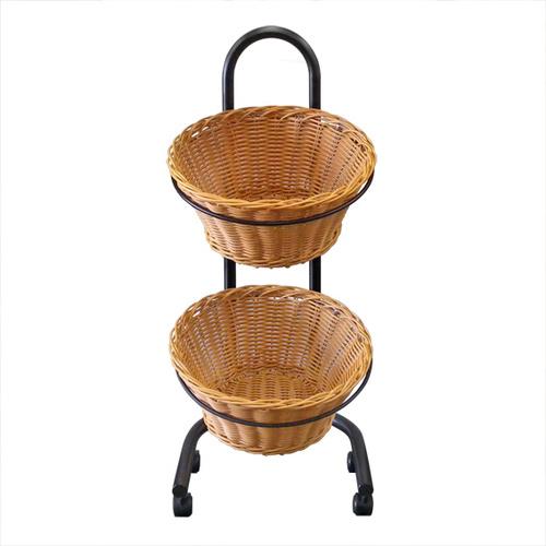 Wicket Round Basket Double Tier | Foodgrade | Health food stores | Pet store |