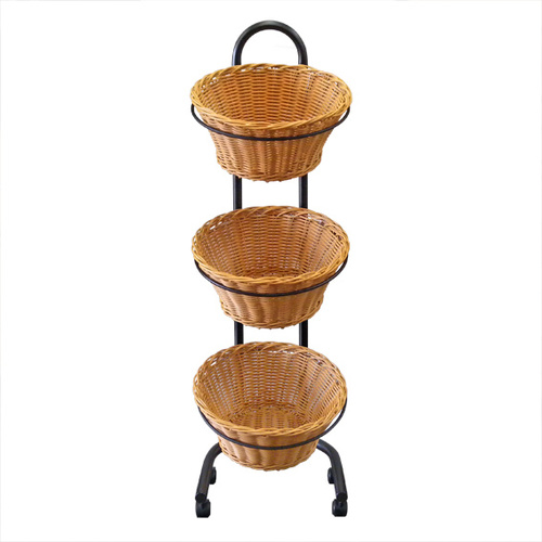Wicket Round Basket Triple | Foodgrade | Triple Tier |