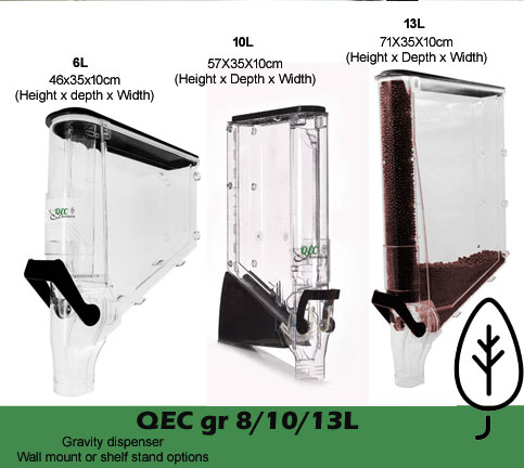 QEC Gravity Dispensers