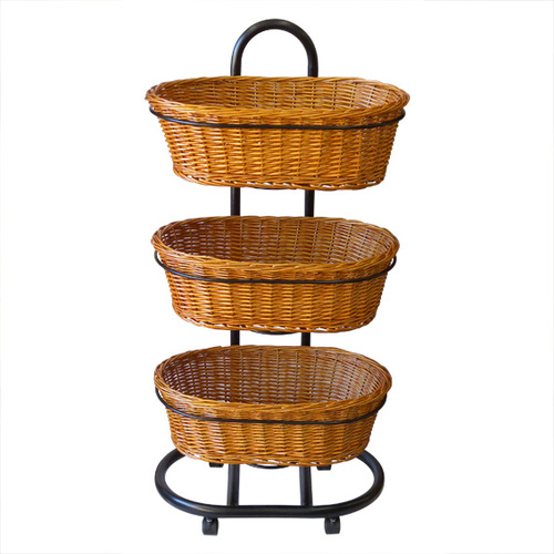 Wicket Oval Basket | 3 Tier Stand set | Health food stores | Pet store |