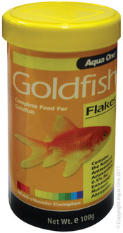 Aqua One Goldfish Flakes 100g (11553)