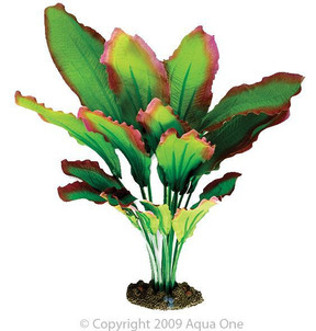 Aqua One Red & Green Amazon Silk Plant - Large (24121)