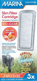 Marina Slim Power Filter Bio-Clear Cartridge (3pk)