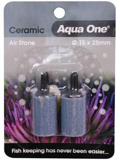 Aqua One Air Stone Ceramic 25x15mm 2pk (10157)