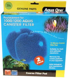 Aqua One Aquis 1000/1200 Sponge Pad - 15ppi (2pk) 39s (25039s)