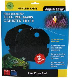 Aqua One Aquis 1000/1200 Sponge Pad - 35ppi (2pk) 40s (25040s)
