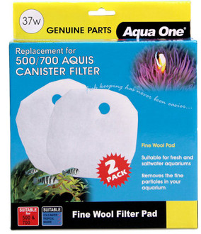 Aqua One Aquis 500/700 Wool Pad (2pk) 37w (25037w)