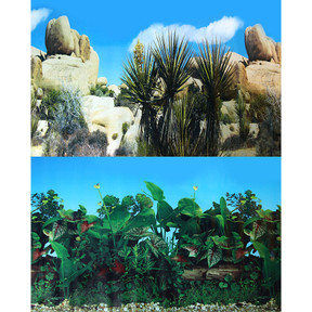 Aqua One Background 30.5x60cm Pearl Rock Greenery #2 (29514)