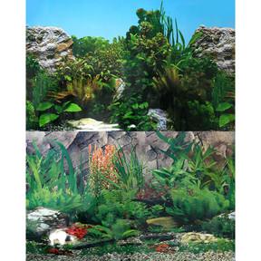 Aqua One Background 30.5x60cm White Stone Rock Plant #4 (29520)