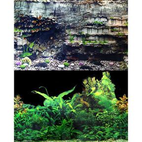 Aqua One Background 49x90cm Black Plant Layer Rock #5 (29524)