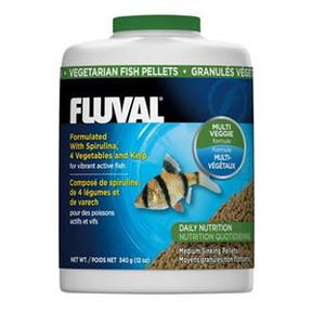 Fluval Vegetable Medium Sinking Pellets 750ml/340gm