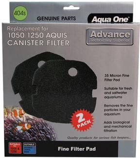 Aqua One Aquis Advance 1050/1250 Sponge Pad - 35ppi Black (2pk) 404s (25404s)