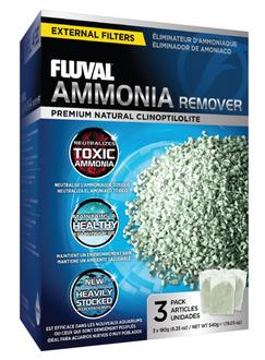 Fluval Ammonia Remover 3x 180gm