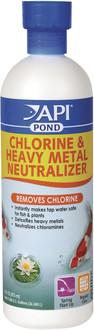 API Pond Chlorine & Heavy Metal Neutraliser 473ml