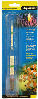 Aqua One Glass Hydrometer W/Thermometer (10308)