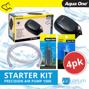 Aqua One Precision 1500 Air Pump Starter Kit (4pc)