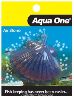 Aqua One Airstone Shaped Shell Fish 7.5cm X 5.5cm Large (10351)