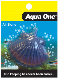 Aqua One Airstone Shaped Shell Fish 5cm X 3.5cm Small (10355)