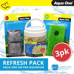 Aqua One AquaStart 340 Pro Refresh Pack inc 69c, 69s & BioNood (3pk)