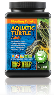 Exo Terra Aquatic Turtle Food Adult Floating Pellets - 530 gm (PT3255)