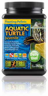 Exo Terra Aquatic Turtle Food Juvenile Floating Pellets - 265 gm (PT3249)