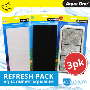 Aqua One AquaStyle 850 Refresh Pack inc 4s, 4w & 4c (3pk)