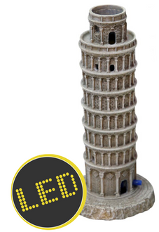 Aqua One Air Operated Leaning Tower of Pisa LED Ornament (37066)