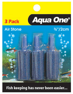 Aqua One Air Stone 3/4 Inch 2.5cm (3pk) (10328)