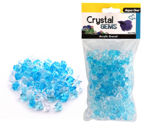 Aqua One Crystal Gems Acrylic Gravel Blue Ice 145gm (12302)
