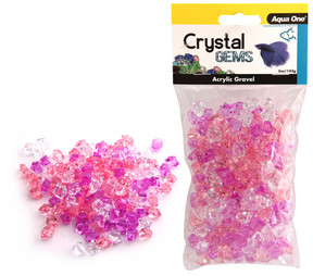 Aqua One Crystal Gems Acrylic Gravel Purple Passion 145gm (12303)