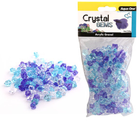 Aqua One Crystal Gems Acrylic Gravel Frosty Blue 145gm (12305)