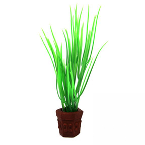 Aqua One Betta Pot Plant Green Grass Ornament 10cm (24329)