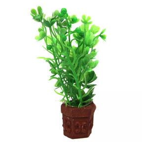 Aqua One Betta Pot Plant Mixed Green Plants Ornament 10cm (24330)