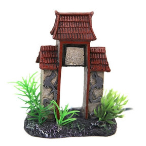 Aqua One Betta Square Column Arch with Roof Ornament 10cm (24341)