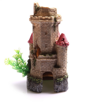 Aqua One Crumbling Underwater Tower Ornament (36861)