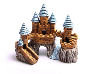 Aqua One Castle on the Rock with River Ornament - Small (36862)