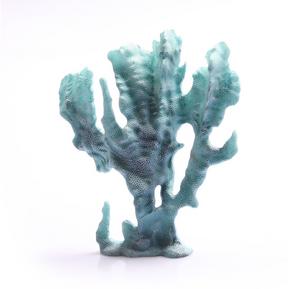 Aqua One Cabbage Coral Blue Ornament (36865)