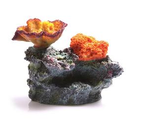 Aqua One Chalice and Sun Corals on Live Rock Ornament (36867)