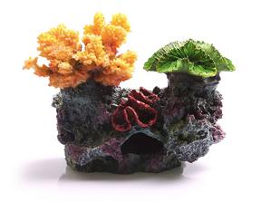 Aqua One 3 Corals on Live Rock Ornament - Small (36878)