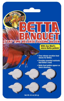 Zoo Med Betta Banquet 7 Day Release Feeding Block