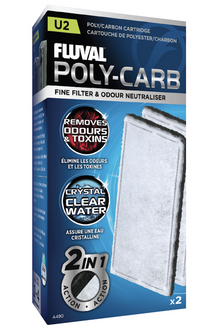 Fluval U2 - Poly/Carbon Cartridge (2pk)