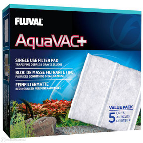Cleaning & Maintenance Reliable Fluval Aquavac Replacement Fine Filter Pad 5pk
