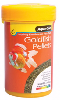 Aqua One Goldfish Pellet Food 1mm 45g (26030)