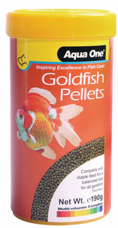 Aqua One Goldfish Pellet Food 2mm 190g (26032)